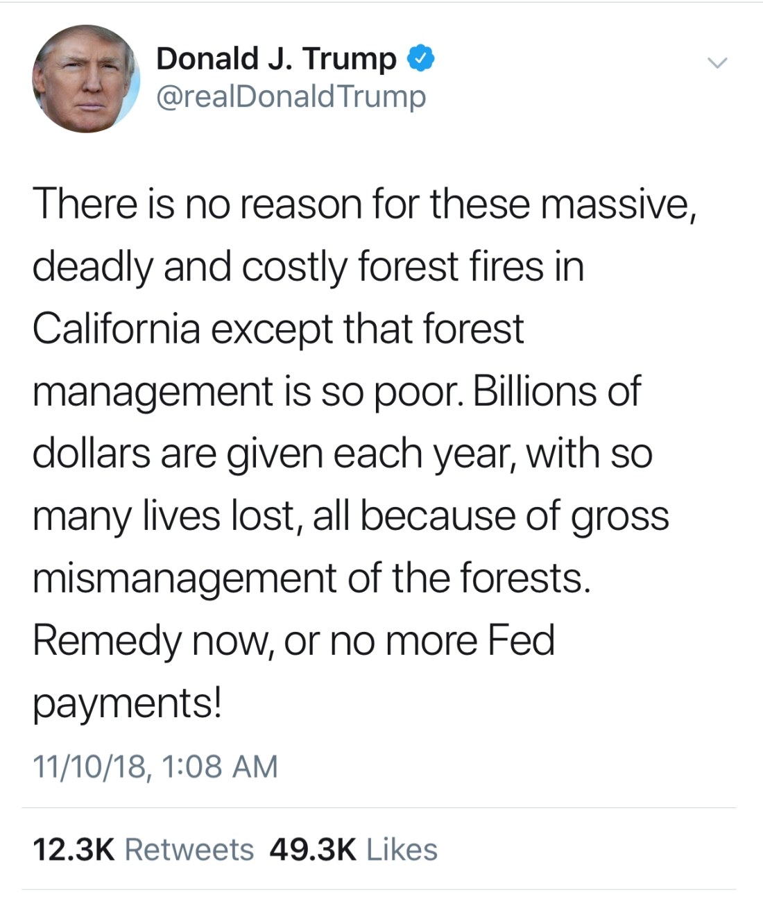 Trump Fire Tweet